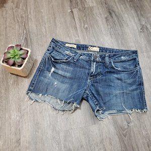 William Rast Stella Cut Off Denim Jean Shorts 28
